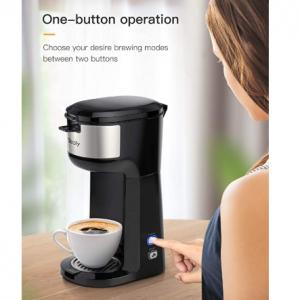 Sboly 單杯膠囊咖啡機 @ Amazon K-Cup等膠囊咖啡適用 帶自動清潔功能