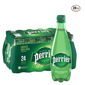Perrier Carbonated Mineral Water, 16.9 Fl Oz (24 Pack) Plastic Bottles @ Amazon