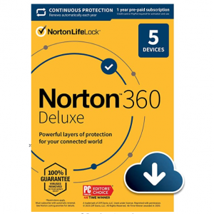 61% OFF Norton 360 Deluxe – Antivirus software for 5 Devices with Auto Renewal