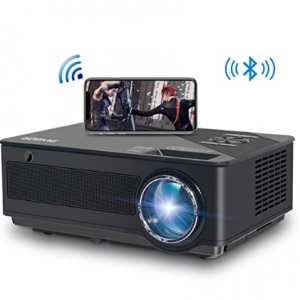 63% OFF FANGOR 6500 Lumens/250 Display/ Contrast 8000: 1 Full HD Theater Projector with Wireless M