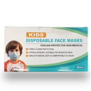 Generic 3-Ply Kids Disposable Face Mask (50-Pack) @ Home Depot