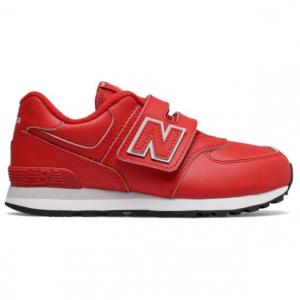 仅限今日:New Balance 574 小童运动鞋,红色 @ Joe's New Balance Outlet