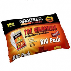 GRABBER WARMERS Toe Warmer Big Pack (8-Pack), 9 x 4.5-Inch @ Amazon