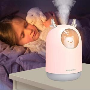 XXMANX 迷你小熊加湿器,7色LED夜灯,粉色 @ Amazon