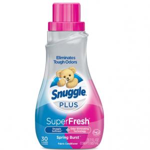 Snuggle Plus Super Fresh Liquid Fabric Softener, Spring Burst, 31.7 Fluid Ounce @ Amazon