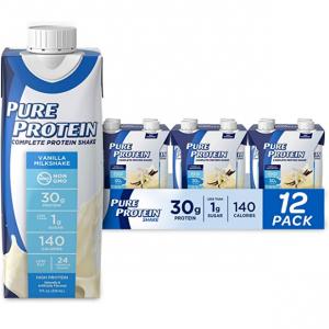 Pure Protein Vanilla Shake 30g 11oz, Pack of 12 @ Amazon