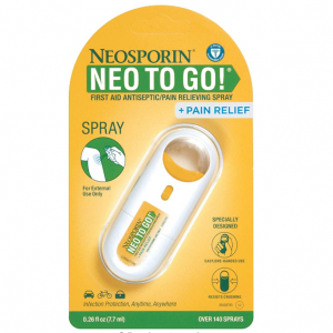 Neosporin + Pain Relief Neo to Go! First Aid Antiseptic/Pain Relieving Spray.26 Oz @ Amazon