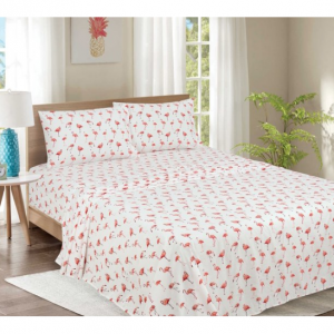 Mainstays 200 Thread Count Cotton Blend TWIN / TWIN XL Sheet Set - Flamingo @ Walmart