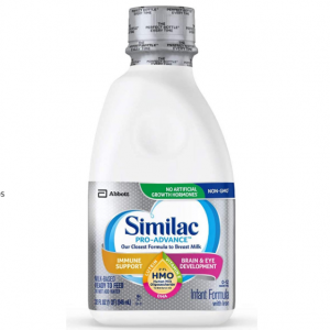 Similac Pro-Advance Non-GMO Infant Formula Ready-to-Feed, 1qt Bottles (Pack of 6) @ Amazon
