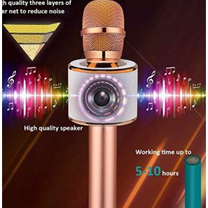 Amazon - BONAOK 無線藍牙卡拉OK麥克風 3合1便攜式,