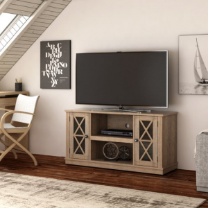 "Twin Star Home Stanton Ridge Spanish Gray TV Stand for TVs up to 55"", Multiple Finishes @ Walmart"