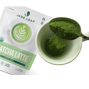 Jade Leaf Organic Matcha Latte Mix- Sweet Matcha Green Tea Powder [5.3oz Pouch] @ Amazon