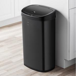 Mainstays Black Stainless Steel Motion Sensor Trash Can, 13.2 Gal @ Walmart