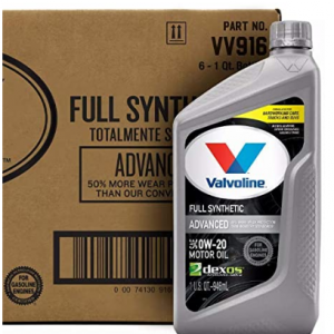51% off 6 x 1qt Valvoline Advanced Full Synthetic SAE 0W-20 Motor Oil @Amazon