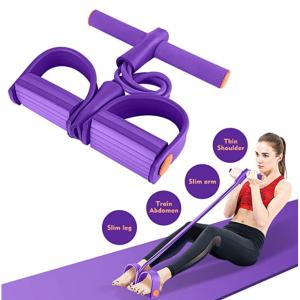 Hestya 蹬拉力器普拉提器材瑜伽家用健身瘦肚子女運動多功能彈力繩 @ Amazon
