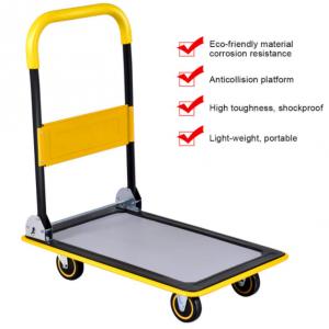 $50 OFF Costway 330lbs Folding Platform Cart  Push Hand Truck Moving Warehouse Foldable @ Walmart