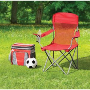 Ozark Trail 折疊便攜椅子,帶裝杯子的口袋 @ Walmart