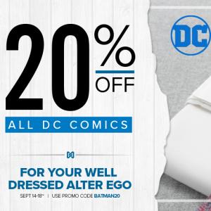 Cufflinks 精選男士DC Comics 袖扣、領帶等配飾促銷