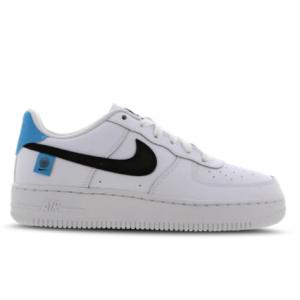 Foot Locker英國官網 Nike Air Force 1 黑鉤藍尾大童款板鞋熱賣