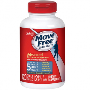 Move Free Glucosamine & Chondroitin + MSM & D3 Advanced Joint Health Supplement,120 Count @ Amazon