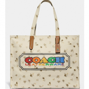COACH Canvas Rainbow Tote Bag @ Dillards