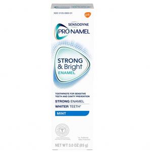 Sensodyne Pronamel Strong and Bright Enamel Toothpaste for Sensitive Teeth, Mint - 3 Oz @ Amazon