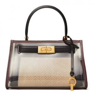 Tory Burch Lee Radziwill Canvas & Leather Handbag with Raincoat Bag Cover @ Nordstrom