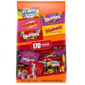 SKITTLES 170pc Halloween Candy Bag 63.43 ounce $11 @ Amazon