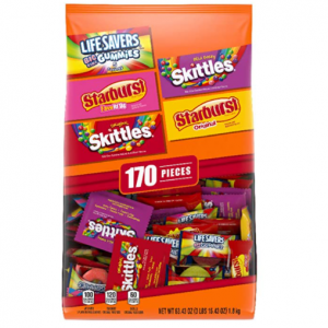 SKITTLES 万圣节糖果多口味,170颗,63.43盎司 @ Amazon
