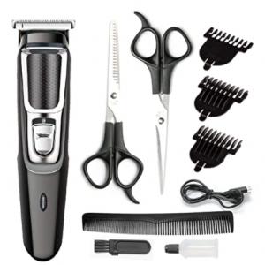 YIER 理發工具10件套 含2個剪刀與電動理發器 @ Amazon
