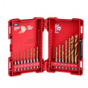 Milwaukee SHOCKWAVE IMPACT DUTY Titanium Drill Bit Set (15-Piece) $20 @ HomeDepot