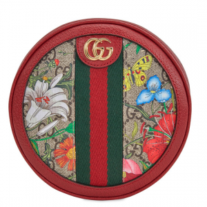 GUCCI Ophidia GG Flora Mini Backpack In Red @ JomaShop