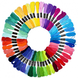 Embroidery Floss Rainbow Color 50 Skeins $5.09 @ Amazon