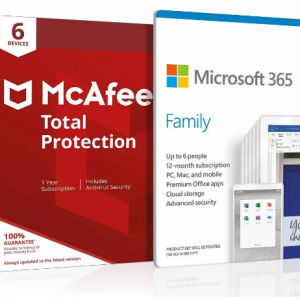 33% off Microsoft 365 Family 6 People and McAfee 6 Devices @Argos
