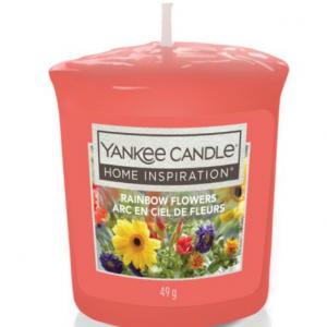 Yankee Votive Candle Rainbow Flowers 49g @Tesco