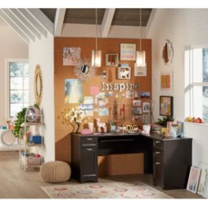 "Realspace® Magellan 59""W L-Shaped Desk $220 shipped @ OfficeDepot"