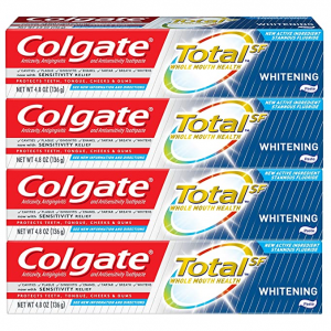 Colgate Total Whitening Toothpaste - 4.8 ounce (4 Pack) @ Amazon