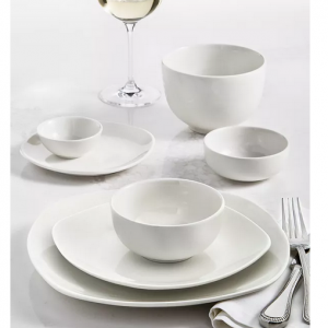 Tabletops Unlimited Whiteware 42-Piece Dinnerware Set, Service for 6 @ Macy