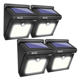 BAXIA TECHNOLOGY 太陽能防水戶外感應燈4個,立減47% @ Amazon