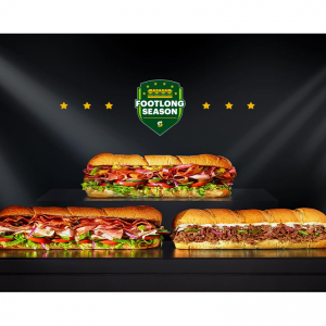 Subway Footlong Sandwiches Limited Time Offer
