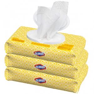 補貨:Clorox 抽取式便攜消毒濕巾超值3包裝 共225片 @ Amazon