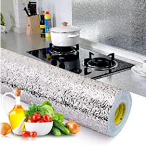 BEMINH 厨房自粘墙面炉灶贴纸 防水防油 15.6 x117inch @ Amazon