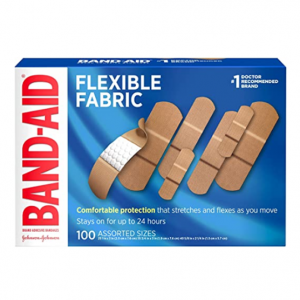 Band-Aid Brand Flexible Fabric Adhesive Bandages , Assorted Sizes, 100 ct @ Amazon
