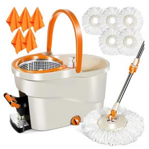 MASTERTOP 6L Foot Pedal Microfiber Spin Mop @ Amazon