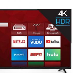 "TCL 55"" Class 4K UHD LED Roku Smart TV HDR 4 Series 55S425 @Walmart"