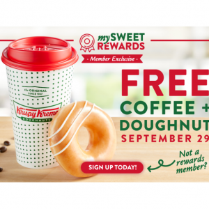 Krispy Kreme National Coffee Day for Rewards Members