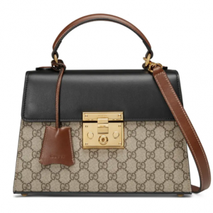 Gucci Small Padlock GG Supreme Canvas & Leather Top Handle Satchel @ Nordstrom