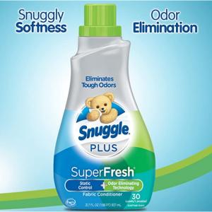 Snuggle Plus Super Fresh Liquid Fabric Softener with Odor Eliminating Technology, 31.7 Fluid Ounce