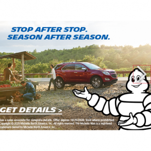 Up to $150 OFF Select Sets of 4 Michelin Tires @ Costco