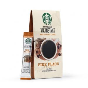 Starbucks VIA 中度烘焙速溶咖啡粉 8條裝 @ Amazon